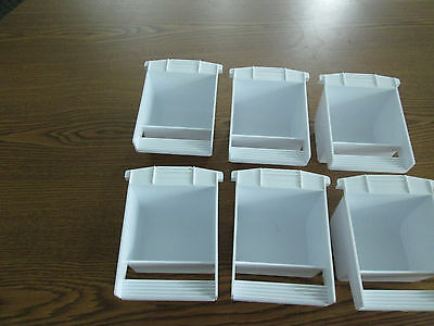 Plastic dish food/water Hoei replacement cup for bird cages made in USA set of 6