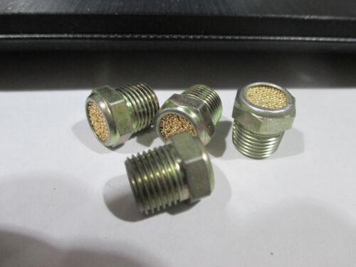 """(4) 1/8"""" npt vent plug (exhaust silencer) muffler"""