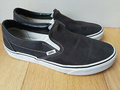 Men's Slip On Vans Black - Size UK 9