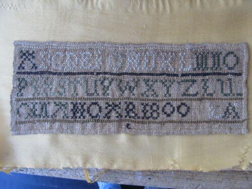Antique Alphabet Sampler_Littleton, Massachusetts_1800_Cross-Stitch On Linen
