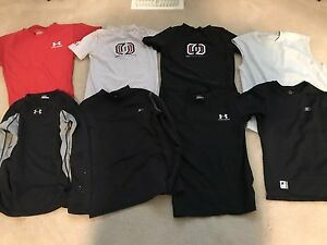 Youth medium/large under armour compression shirts