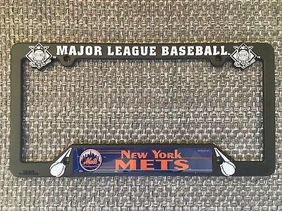 New York Mets NEW MLB Black Plastic License Plate Frame Made in USA  New York Usa Framed