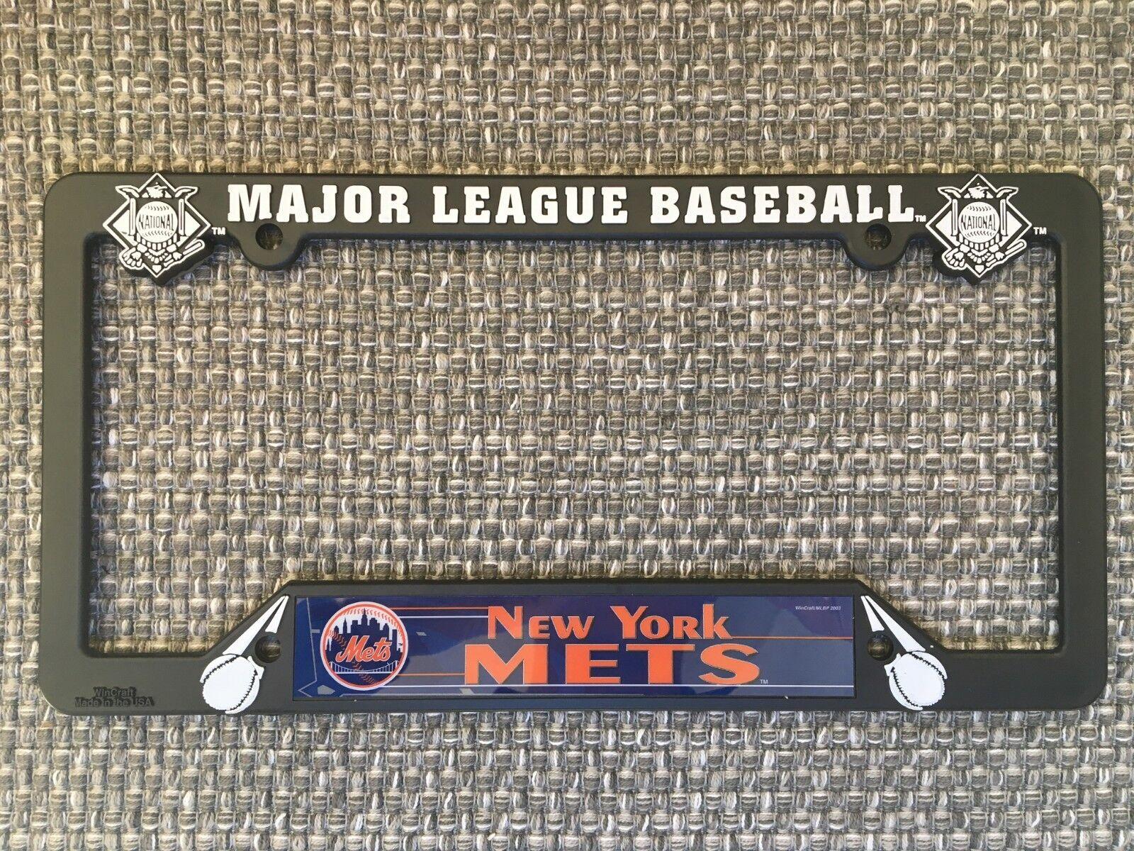 New York Mets NEW MLB Black Plastic License Plate Frame Made