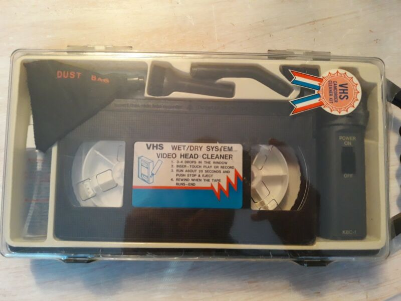 Vintage Sakar VHS Camcorder Cleaning Kit  With Mini Vacuum.  Factory Sealed New!