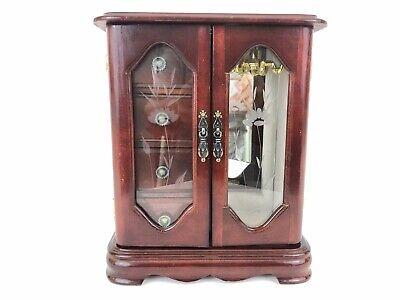 Glass Mahogany Armoire (Armoire Mahogany Jewelry Box)