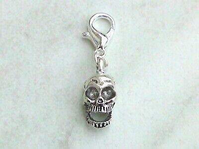 Charms Anhänger 3D TOTENKOPF Charm Schädel Skull Gothic Halloween Armband Kette ()