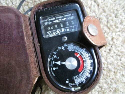 Weston Master Universal Exposure Meter Model 715 with Leather Case