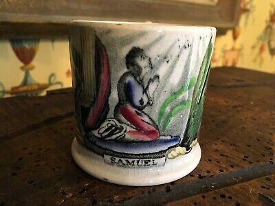 Antique English Transferware Child's Cup Porcelain Samuel Praying Circa 1840