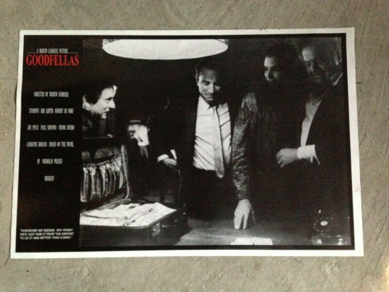 "Goodfellas movie 24"" x 36"" poster, Deniro, Pesci, Liotta"