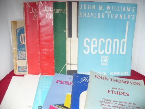 11- Piano Instruction Books...Williams/Belwin/Thompson/Bastin....