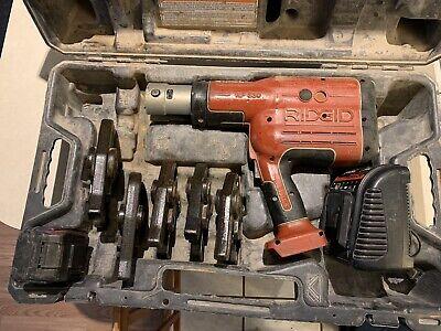 Ridgid Pro Press Crimper Set Model Rp330 With 5 Jaws