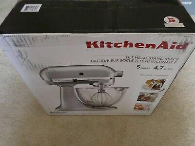 *New* KitchenAid KSM105GBCMC 5-Qt. Stand Mixer w/ Glass Bowl - Mettallic Chrome