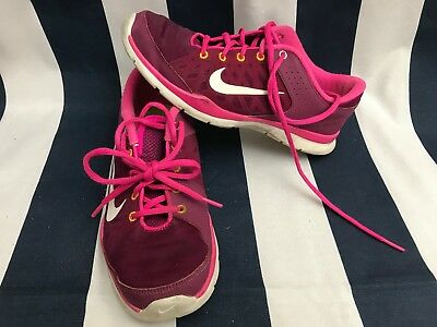 5cc3e07e02bad Womens Nike Flex Trainer 3 Raspberry Red Running Training 580374-603 Size  8.5🍔