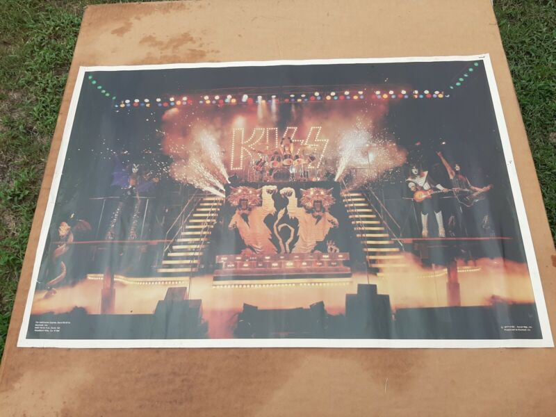 "KISS ALIVE II ERA Original 1977 Aucoin / Boutwell Poster 34""x23"" Cool Original"