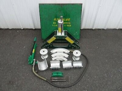 Greenlee 777 1 14-4 Rigid Pipe Bender W Hydraulic Hand Pump Nice Set