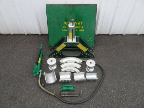 "Greenlee 777 1 1/4""-4"" Rigid Pipe Bender w/ Hydraulic Hand Pump **Nice Set**"