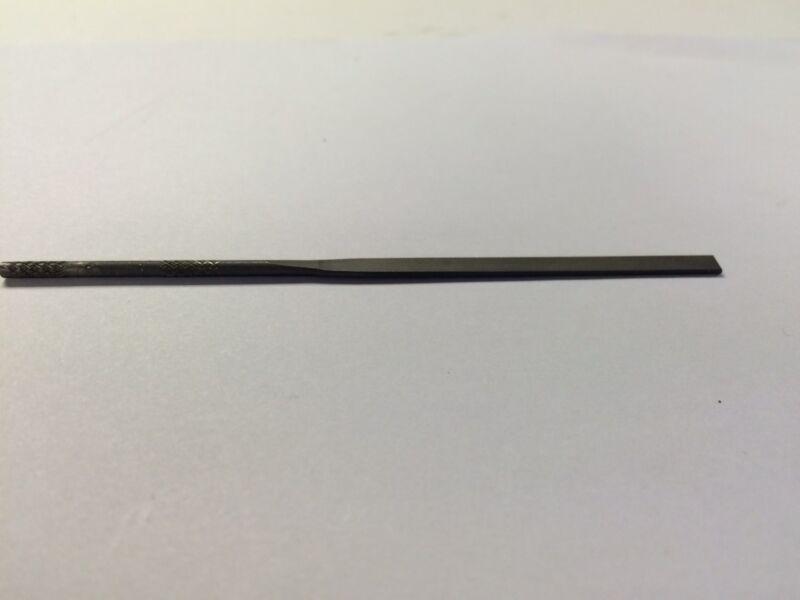 "Nicholson 37305  4"" Joint,  Round Hand Needle File, #0 Cut, USA Made, New"