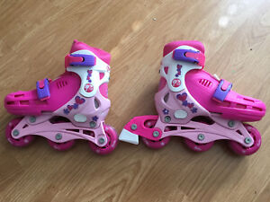 Girls Barbie Adjustable inline/ice skates