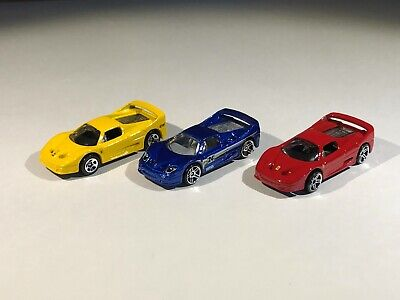 Hot Wheels Ferrari F50 Challenge Lot of 3 Loose