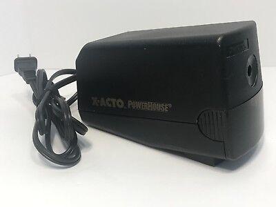 X-acto Black Powerhouse Electric Pencil Sharpener Elmers Model 17xxx 19xxx
