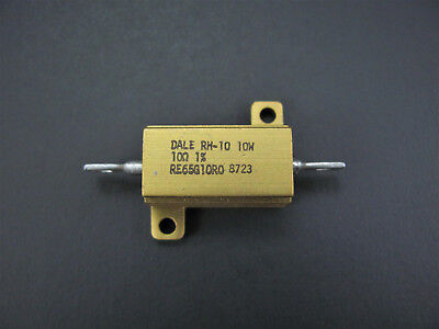 10 Ohm 10w 1 Metal-clad Resistor - Dale Vishay Rh10 - New Old Stock