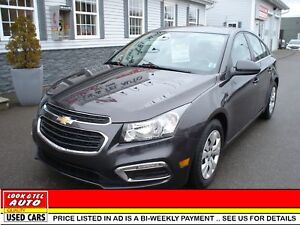 2016 Chevrolet Cruze  $14995.00 with $2 K Down or Trade-in* LT