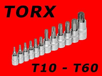 12-tlg. TORX T-Profil Stecknuss Satz T10 - T60 Steckschlüssel Nuß Bits Set TP342
