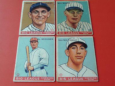 1933  GOUDEY BASEBALL ** 19  CARD  LOT  TOTAL **  R319   BIG LEAGUE  CHEWING GUM