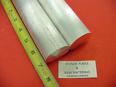 2 Pieces 1-58 Aluminum 6061 Round Rod Solid Bar 7 Long New Lathe Stock 1.625