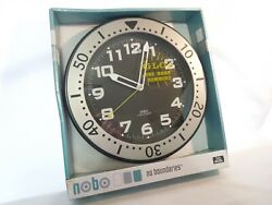 Quartz Wall Clock Glow in the Dark Numbers Glass Lens Sports Chronograph 11 1/2