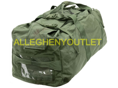 US Military IMPROVED DUFFEL BAG Deployment Duffle Flight Sea Bag OD VGC