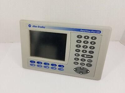Allen-bradley 2711p-b6c20d Panelview Plus 600 Color Touchscreen Hmi - Working