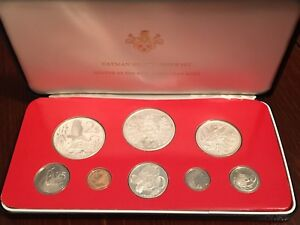 1976 Cayman Island 8 Coin Proof Set with Silver