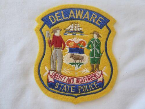 DELAWARE STATE POLICE UNIFORM EMBLEM PATCH, NEW UNUSED!