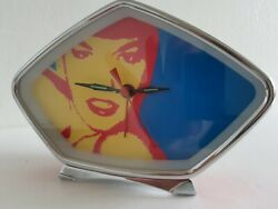 Retro Novelty Alarm Clock Red wind up Pop Culture Vintage style Pretty Woman