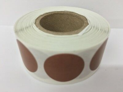 500 Labels Round 2 Inch Brown Color Coding Coded Inventory Sticker Dot