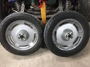 Harley wheels and tires.