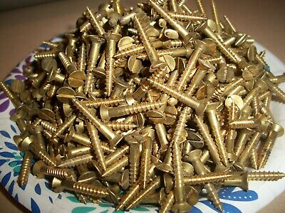 Flat Slot Drive #10 X 5//8 Wood Screws 100 pcs Silicon Bronze