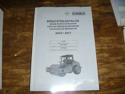Hamm 3410 3411 Vibratory Smooth Drum Roller Compactor Part Catalog Manual