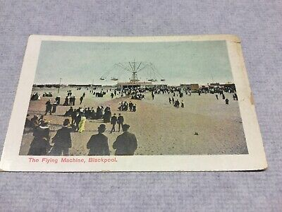 Old Postcard  Blackpool . The Flying Machine Old Flying Machine