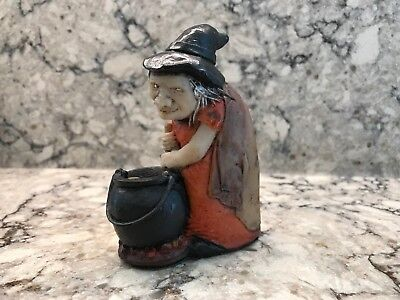 Genuine Witch Ones UK David C. Lyons Halloween Witch Handmade Figurine 4in.