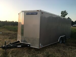 Enclosed car trailer. Custom ordered extra tall