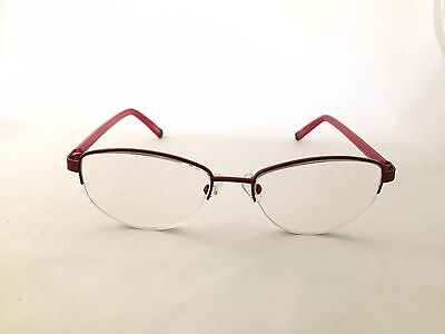 Acetate Temples Frame - ZENNI OPTICAL 911018 STAINLESS STEEL HALF-RIM FRAME ACETATE TEMPLE RX EYEGLASSES