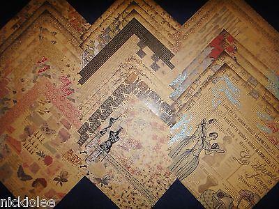 12x12 Scrapbook Cardstock Paper Kraft Haberdashery Victorian Vintage Collage 40  (12x12 Scrapbook Paper)