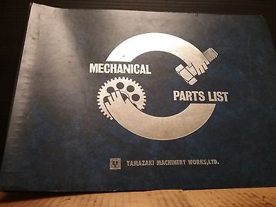 Mazak Yamazaki Vqc-1540 Mechanical Parts List Manual5000 Y.k.