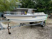1995 Boston Whaler Rage 15  with Trailer - Good condition, 115hp turbojet