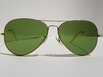 0f45bb41fa Vintage 1980's B&L Ray Ban Aviator RB-3 Lens, L0556, 62mm, Sunglasses