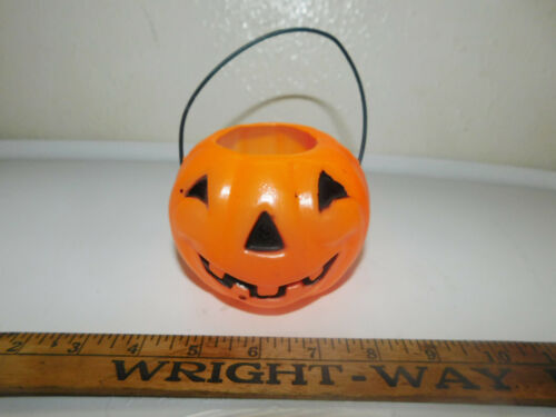 "Vintage Halloween Pumpkin Jack-O-Lantern Blow Mold 4"" Marked Best"
