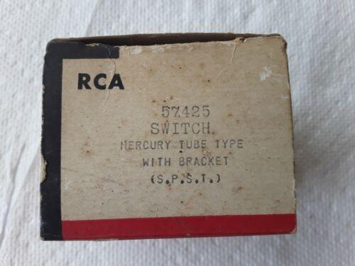 RCA Mercury Tube Type Switch with Bracket S.P.S.T. Part # 57425