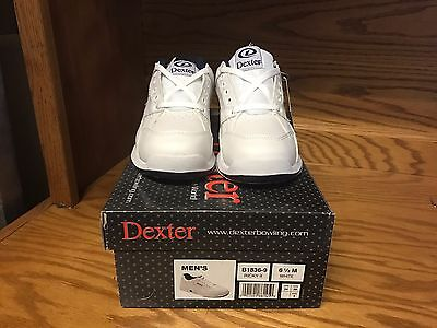 Dexter Men's Ricky White Bowling Shoes Size 6.5 Universal Soles